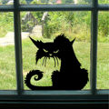 Funny Angry Black Cat Sticker Decal Vinyl Car Window Windscreen Wall Home Bedroom Children Refrigerator Bumper XMAS Decor Gift