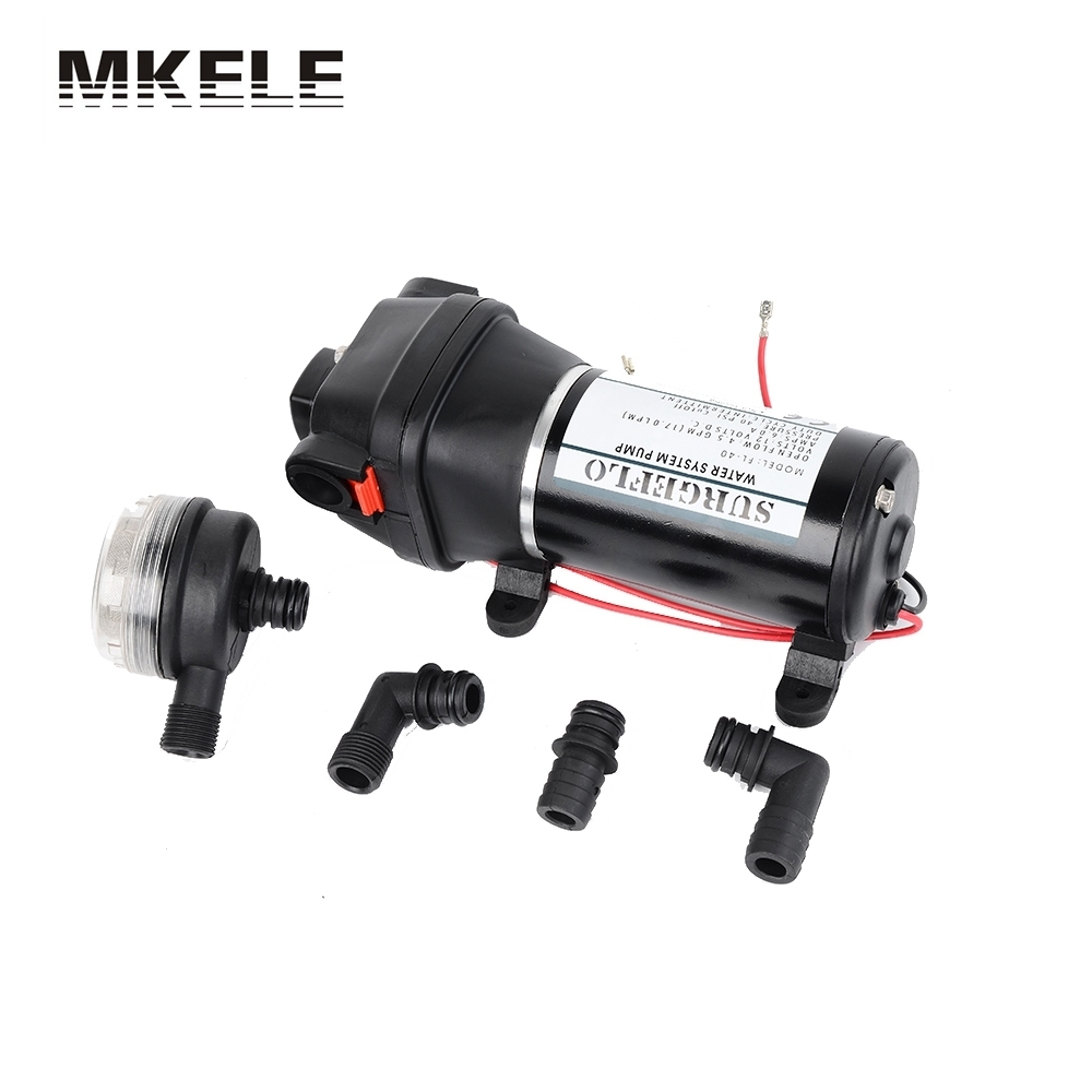 FL-40 FL-44 12V/24V Low Pressure Electric Diaphragm Pump Irrigation Motorhome Car Water Supply 25m Lift fl 40 fl 44 12v 24v dc mini submersible low electric diaphragm pump 25m lift high pressure water pumps self priming