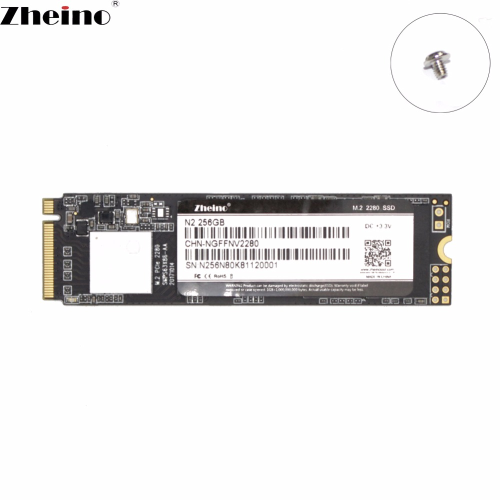 Zheino M 2 PCIe SSD N2 256GB NVMe 2280 mm For Laptop Internal Solid State Hard