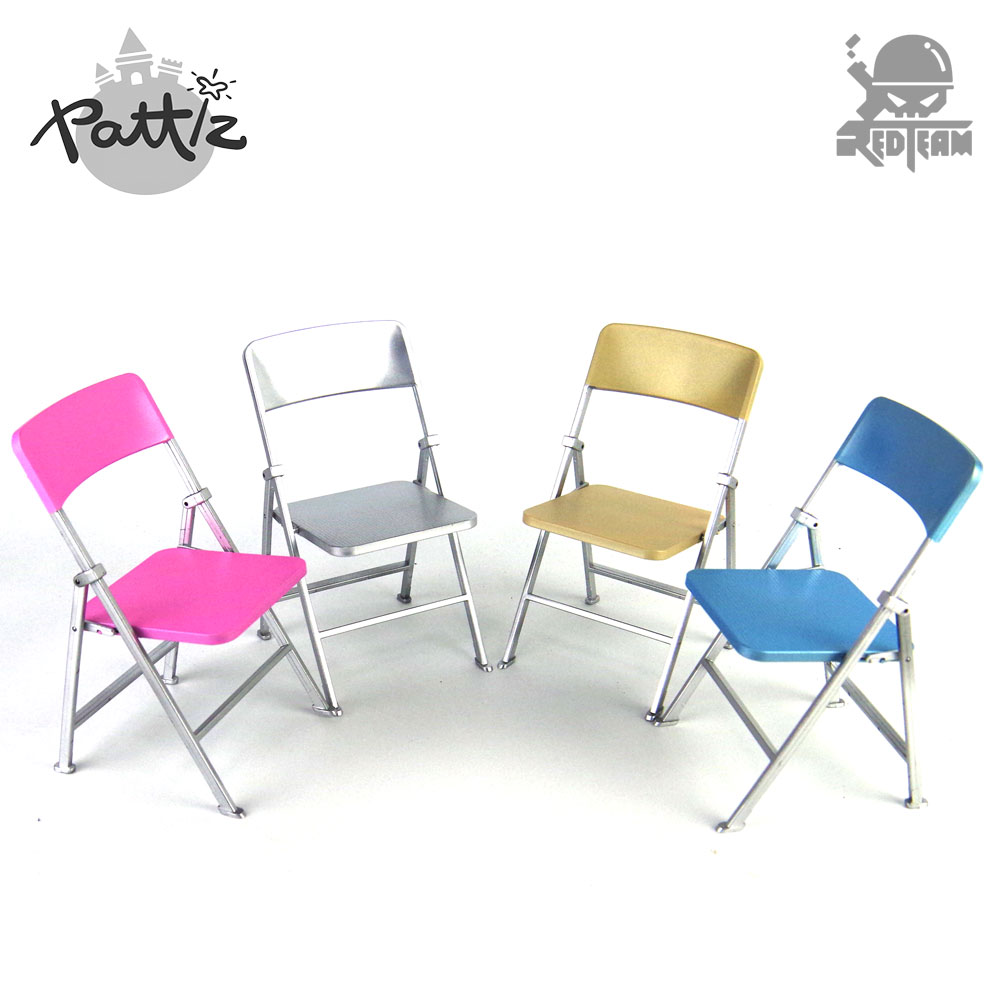PATTIZ 1:6 Color Plastic Chair Models Diy Dolls