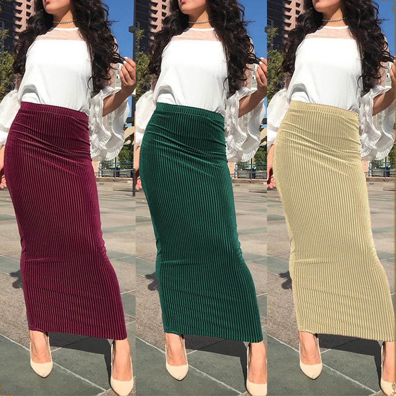 2019 été Abaya Musulman modeste jupes Islamitische Rokken Musulman Jupe Musulmane longue Jupe turquie femmes vêtements islamiques