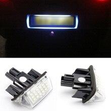 Новинка; Лидер продаж 2 шт./компл. 18 LED автомобиля номерной знак свет лампы для Toyota Camry Yaris corolla fielder dxy88