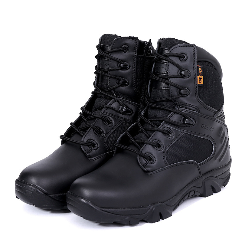 Side Zipper Brand Men Army Shoess Men Military Tactical Boots Outdoor Hiking Desert Genuine Leather Ankle Boots Male Combat Boot men s desert military boots touch guy cow suede genuine leather ankle martin boot
