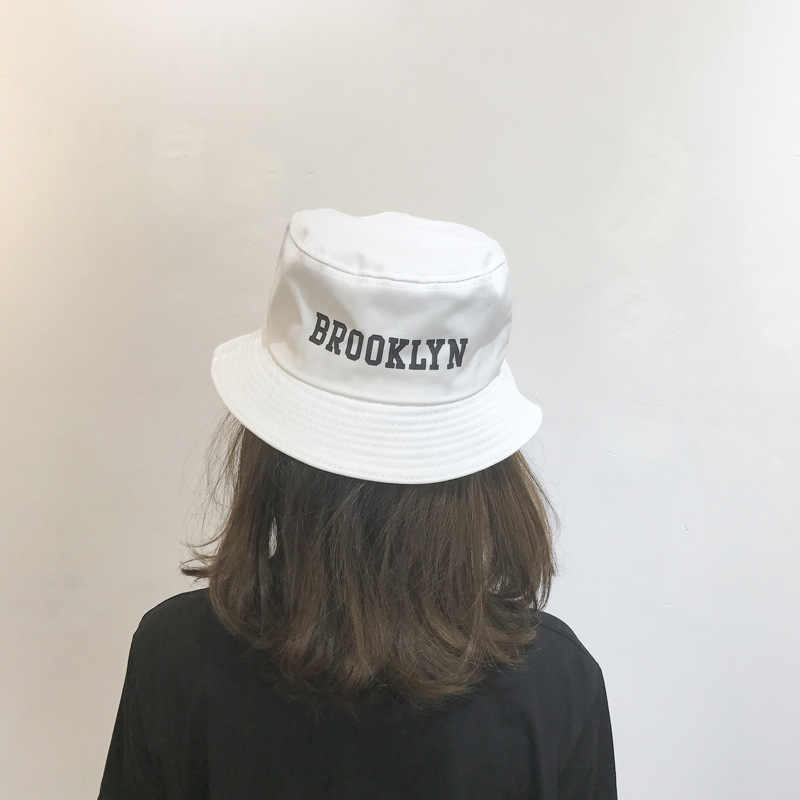 7d8fd8e0ea56a ... VORON 2017 new BROOKLYN Embroidery Bucket Hat Fisherman Hats Men Women  Outer Summer Street Hip Hop ...