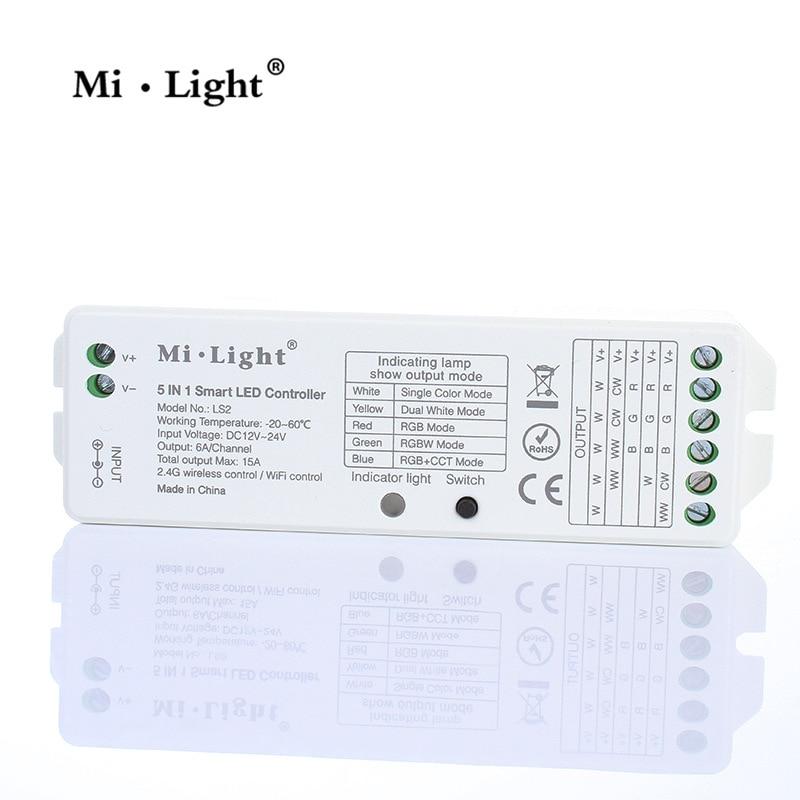 10 PCS Intelligente ha condotto la luce con il regolatore 5 in 1 ha condotto la luce con ricevitore RGB + CCT regolatore - 3