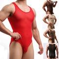 Masculino underwear shapers de fios net transparente underwear bodywear bodysuit elasticidade cuecas shapers dos homens calcinha sexy