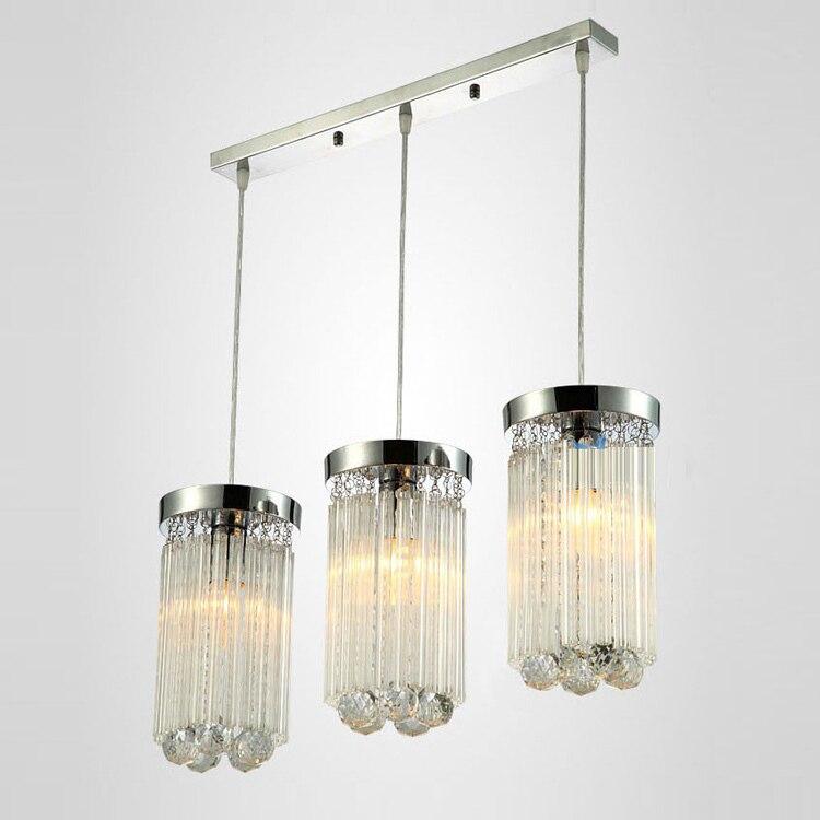 New Modern Living Balcong Crystal Hanging Pendant Light Polished Chrome Glass Sticks Corrider Balcony Hallway Pendant Light