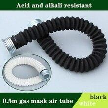 מלא פנים גז מסכת אוויר צינור 0.5m ריסוס Respirator גדול ראיית תעשיית בטיחות עבודה הגנה חומצה אלקלי עמיד