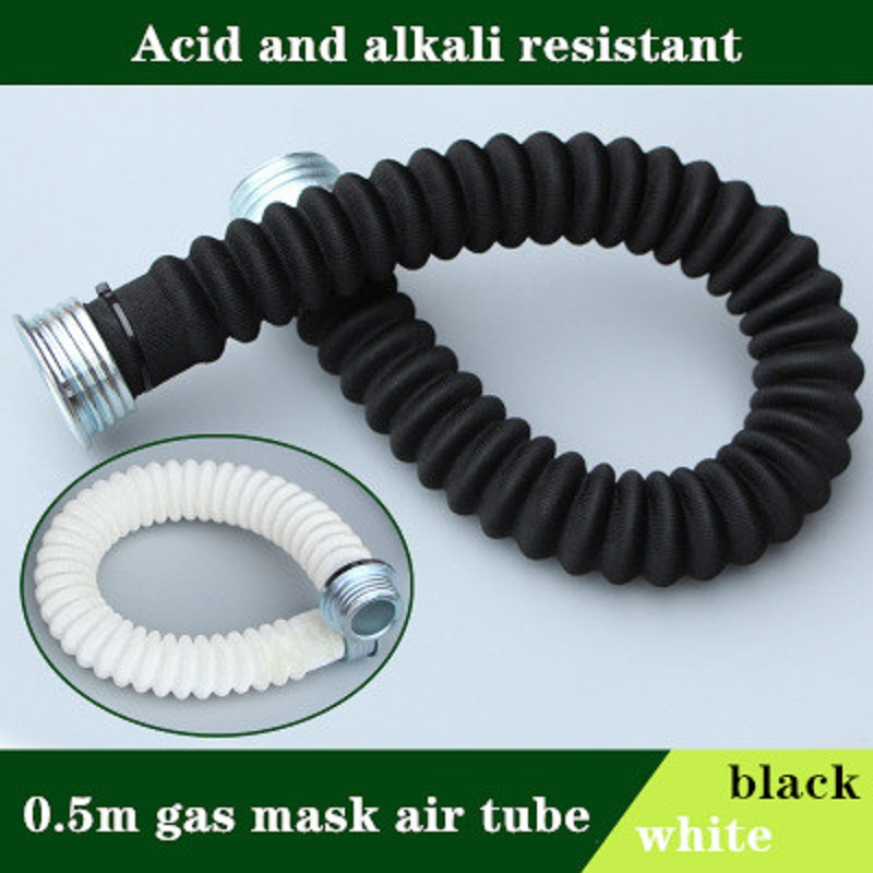 Full Face Gas Mask Air Tube 0.5m Spray Painting Respirator Large Vision Industry Safety Work Protection Acid Alkali Resistant