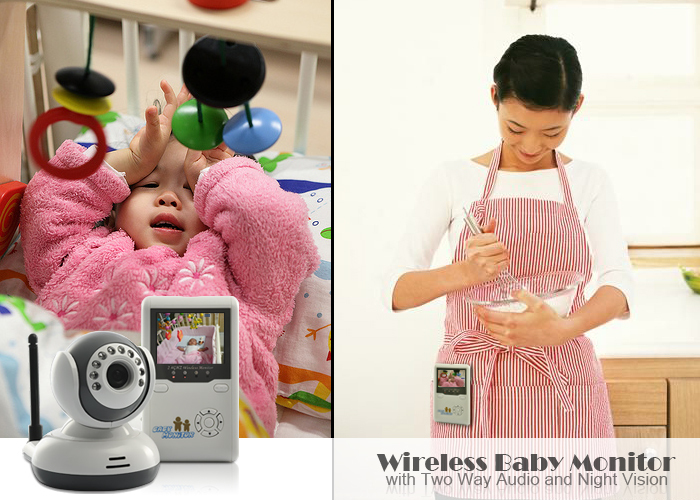 9020D 2.4 TFT Digital Wireless Baby Video Monitor One Camera IR Night Vision Voice Intercom Electronic Babysitter 7 inch video doorbell tft lcd hd screen wired video doorphone for villa one monitor with one metal outdoor unit night vision