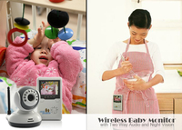 9020D 2.4 TFT Digital Wireless Baby Video Monitor One Camera IR Night Vision Voice Intercom Electronic Babysitter