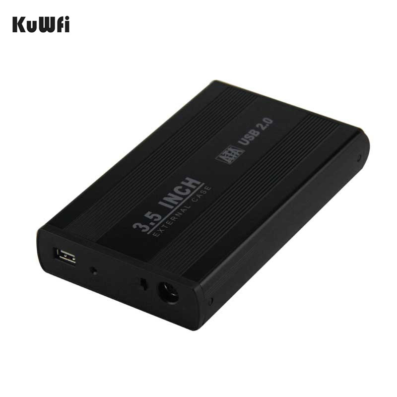 KuWFi 3.5 Inch USB 2.0 SATA External HDD Disk Hard Drive Enclosure Case Cover External Storage Box Support Hard Drive up to 1TB 2 5 inch hdd case sata to usb 3 0 hard drive disk sata external storage hdd enclosure box with usb cable hdd hard drive box