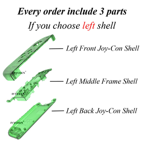 Image 2 - IVYUEEN for Nintendoswitch NS Joy Con Controller Transparent Clear Replacement Housing Shell for Nitendo Switch Joy Con Cover