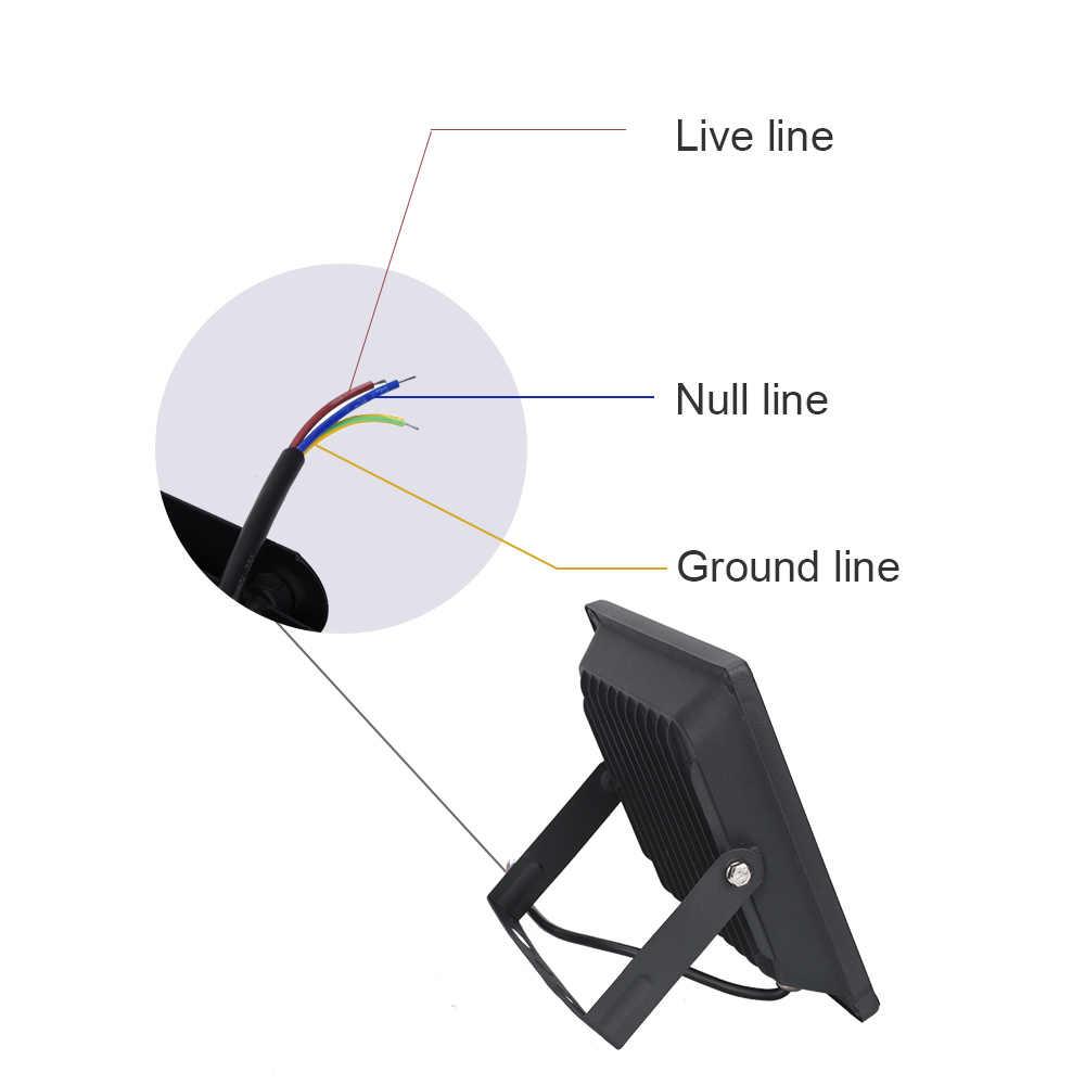 Светодиодный прожектор мощностью 50 Вт 30 Вт 20 Вт 10 Вт ультра тонкий светодиодный прожектор на открытом воздухе 220 V IP65 наружный настенный светильник-прожектор заливающего света светодиодный
