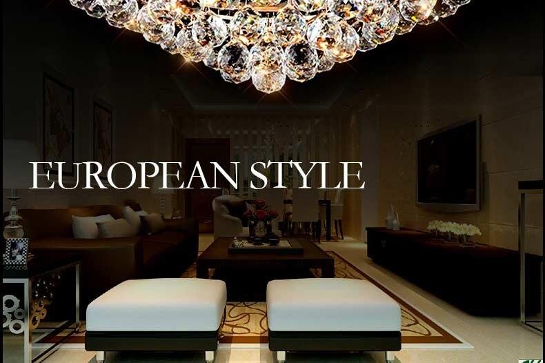 Kristall ball hängen licht luxus moderne decken lampe wohnzimmer