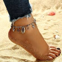 Vintage Boho Wave Anklet Foot Chain Ankle Summer Turtle Shell Anklet Tassel Sandals Barefoot Beach Foot Bridal Jewelry Gift(China)