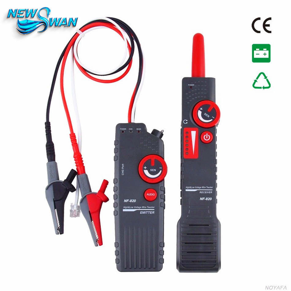 NF-820 RJ45 RJ11 BNC Tester High & Low Voltage Cable tester Underground Cable Finder Anti-Interference Wire Tracker