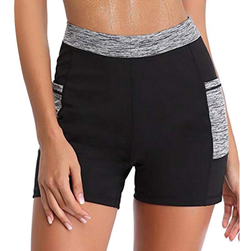 LOOZYKIT Women Yoga Shorts 2019 Running Yoga Sports Shors Weight Loss Sweat Sauna Capris Leggings Tights With Pocket Female Gym