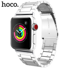 Original HOCO Stainless Steel Strap Bracelet For Apple Watch Series 4/3/2/1 Band 42mm 44mm Wristband for iWatch 4 original hoco 316l stainless steel band for apple watch series 4 3 2 1 metal wrist strap 42 44mm watchband replacement bracelet