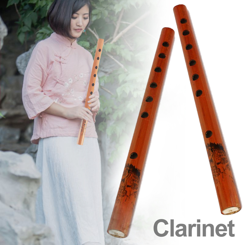 Clarinet Musical Instruments Brown 24cm Study Music Bamboo Flute Gift Professional A Treble Soprano Champagneflute Chinese image