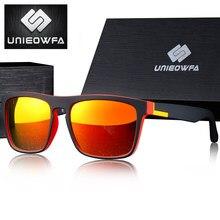 UNIEOWFA-gafas de sol cuadradas graduadas para hombre, lentes de sol cuadradas graduadas para miopía, polarizadas, con espejo naranja, graduadas