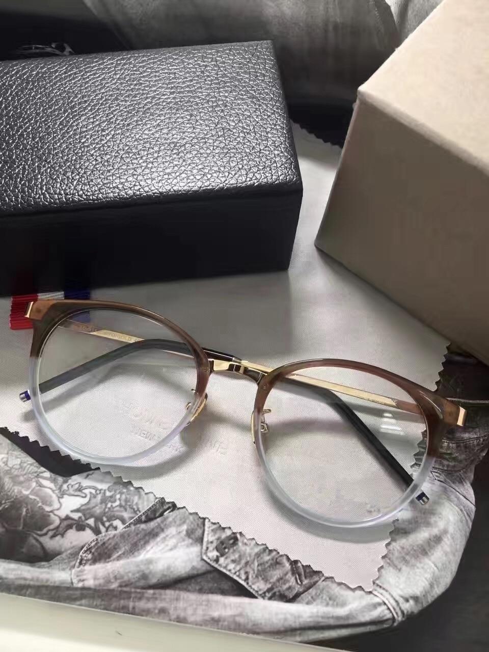 High quality large optical eyeglasses vintage round eyegwear