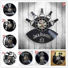 Home Living whisky klasyczny zegar ścienny modna dekoracja zegar artystyczny płyta winylowa zegary ścienne