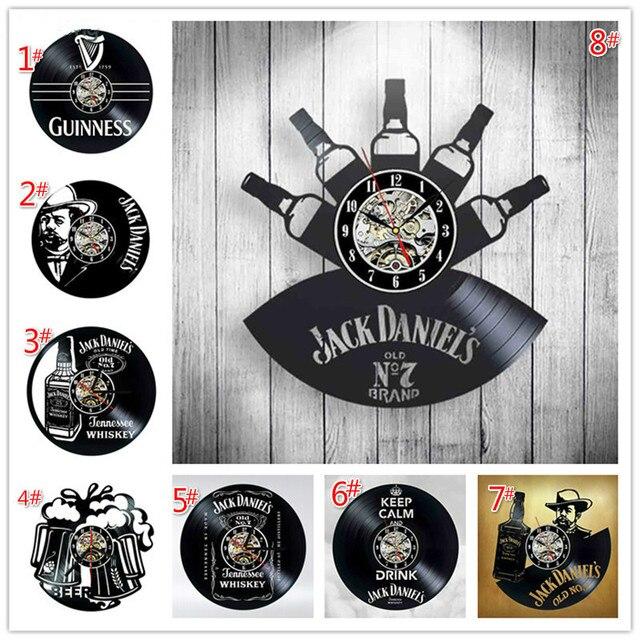 Home Living whisky orologio da parete classico decorazione di moda orologio da parete orologio da parete in vinile