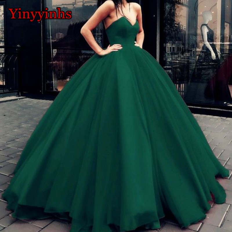 Simple Red Carpet   Dresses   Sweetheart vestidos de graduacion Tulle vestido formatura Ball Gown Long Evening   Prom     Dresses   2019