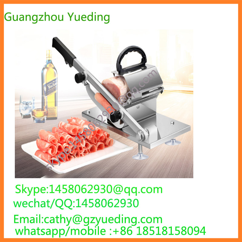 free shipping manual stainless steel frozen meat slicer/home use meat slicer/frozen meat cutting machine stainless steel manual meat slicer