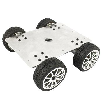 Aluminium Alloy Chassis 25 Type 4WD Car with Geared Motor Diameter 65mm Tyre/Wheel for DIY Smart Car Robot Competition