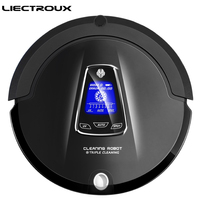 2015 Newest Multifunction Robot Vacuum Cleaner Sweep Vacuum Mop Sterilize LCD Touch Screen Schedule 2Way VirtualWall