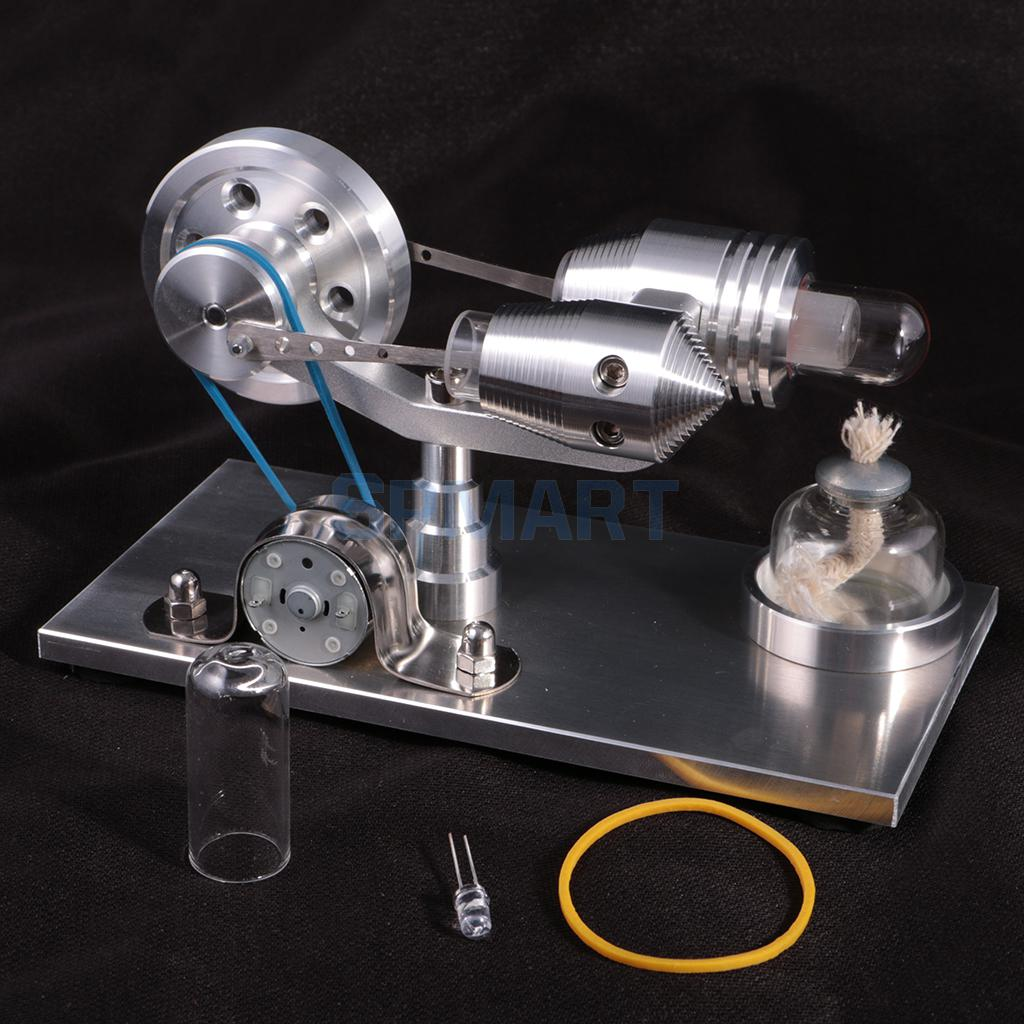 Hot Air Stirling Engine Model Physics Motor Power Generator Educational Toy Science Experiment Kit for Chuldren/Adult