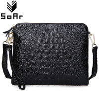 SoAr Women Messenger Bags Cute Clutch Crossbody Bags Genuine Leather Crocodile Shoulder Bags Hot Sale Fashion