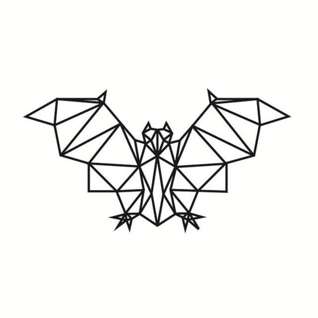 simple creative geometric flying bat pattern wall sticker self