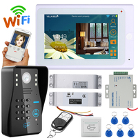 "7 ""TFT Wired/Wireless Wifi RFID Passwort Video Türklingel Intercom System mit Elektrische Drop riegelschloss + IR CUT HD100-in Videosprechanlage aus Sicherheit und Schutz bei"