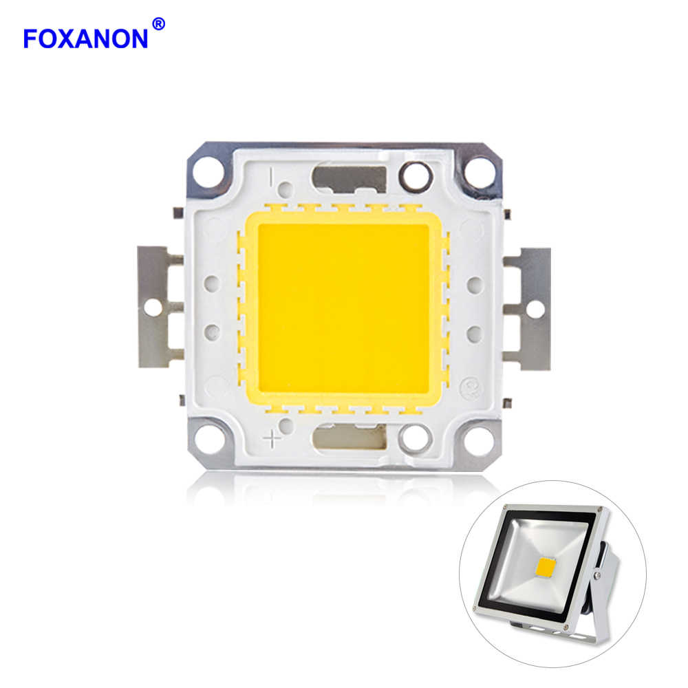 Foxanon LED COB Chips 10W 20W 30W 50W 100W Lamp Chip DC 12V 36V DIY LED Floodlight Spotlight Lights White / Warm White Lighting