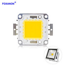 Foxanon LED COB Chips 10W 20W 30W 50W 100W Lamp Chip DC 12V 36V DIY LED Floodlight Spotlight Lights White / Warm White Lighting(China)