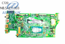 Laptop Motherboard DA0ZHNMBAF0 for Acer for Chromebook C720 Motherboard NB.SHE11.003 DDR3 Integrated 100% Test ok