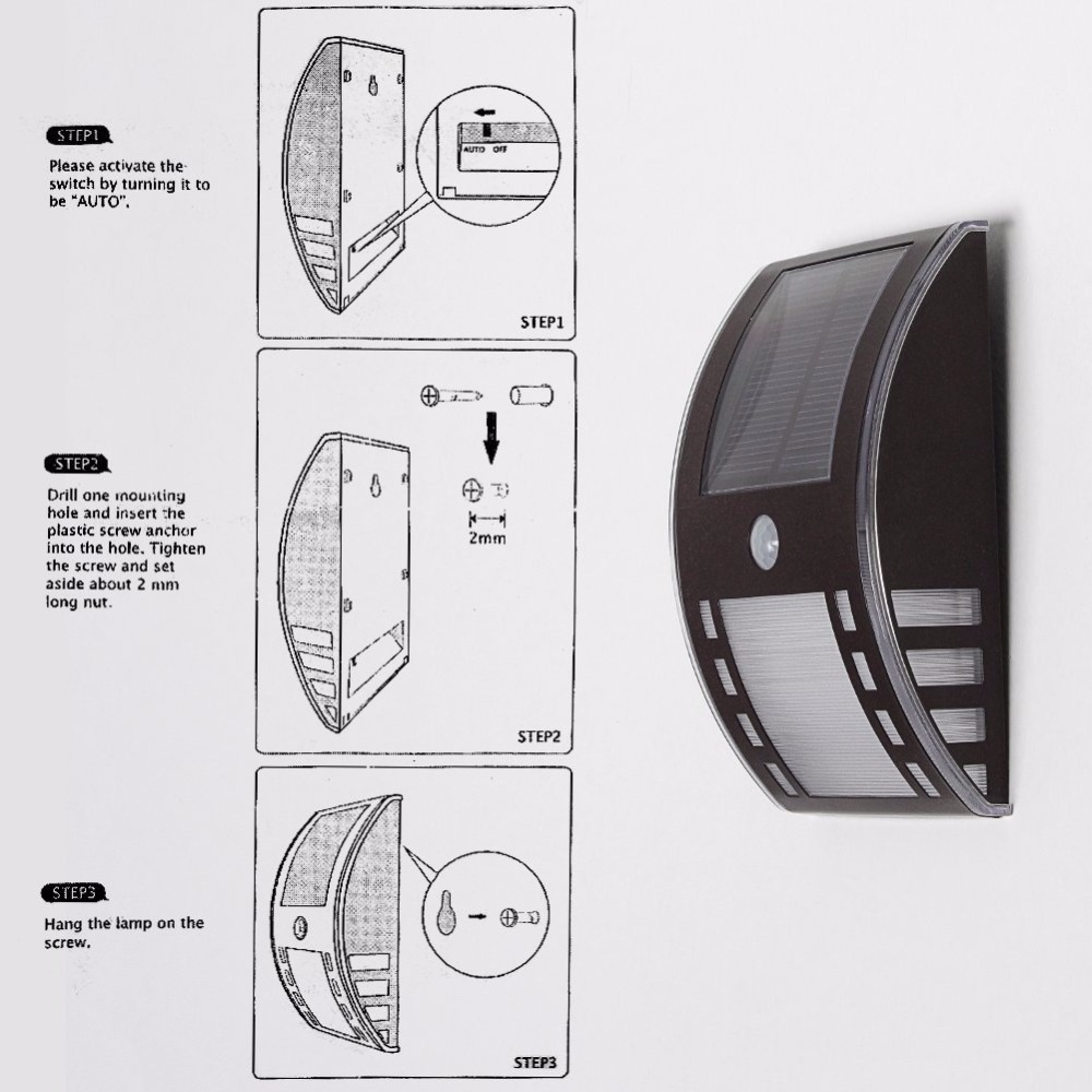Outdoor Solar Lights Motion Sensor Wiring Diagram Diagrams Light Switch Lightinbox Powered Indoor Led Ceiling