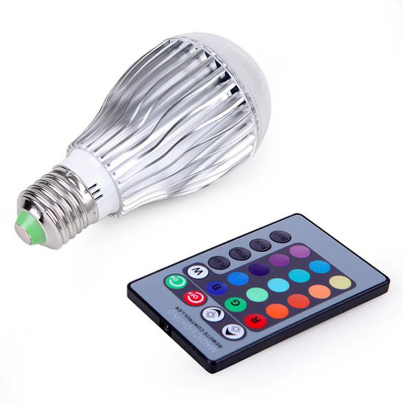 RGB LED Bulb 9W 12W E27 E14 B22 GU10 MR16 GU10 Light Stage Lamp Remote Control Led Lights For Home Memory Function Colour Chang