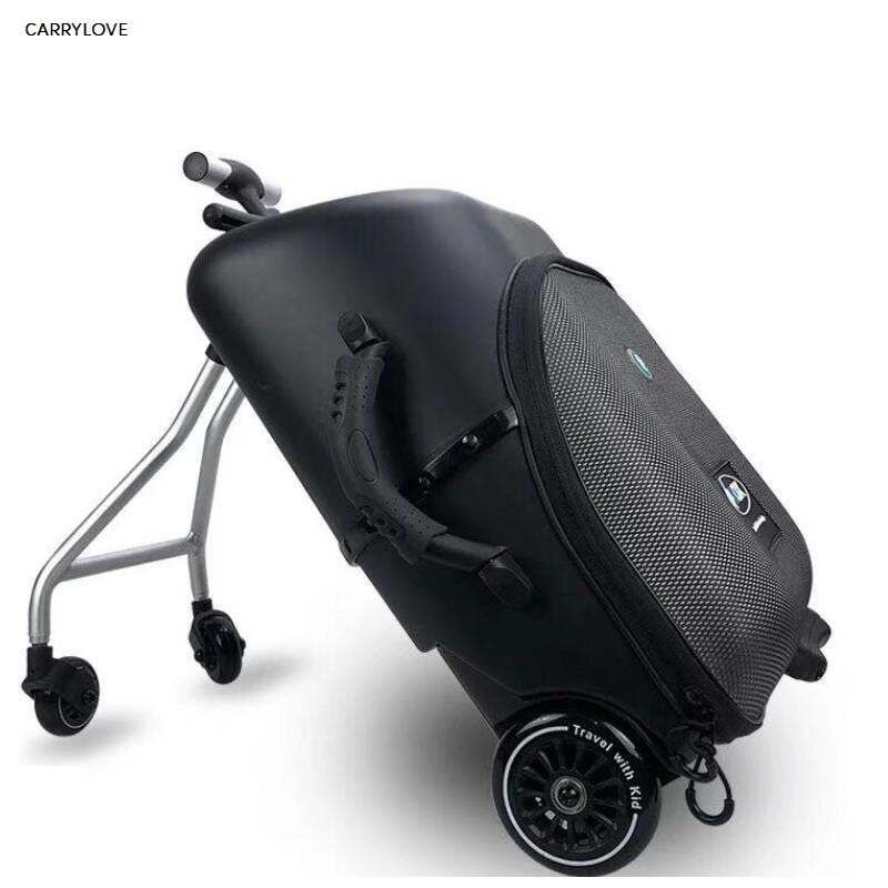 Travel tale High quality and convenient Kids scooter suitcase Lazy carry on rolling luggage ride on trolley bag for babyTravel tale High quality and convenient Kids scooter suitcase Lazy carry on rolling luggage ride on trolley bag for baby
