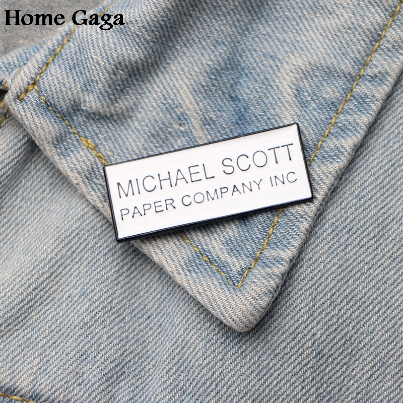 Homegaga letter funny Metal Enamel pins Trendy para backpack shirt clothes bag brooches badges for men women D1477 in Badges from Home Garden