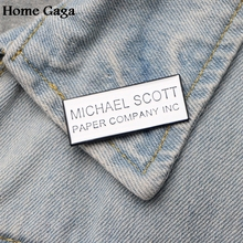 Homegaga letter funny Metal Enamel pins Trendy para backpack shirt clothes bag brooches badges for men women D1477