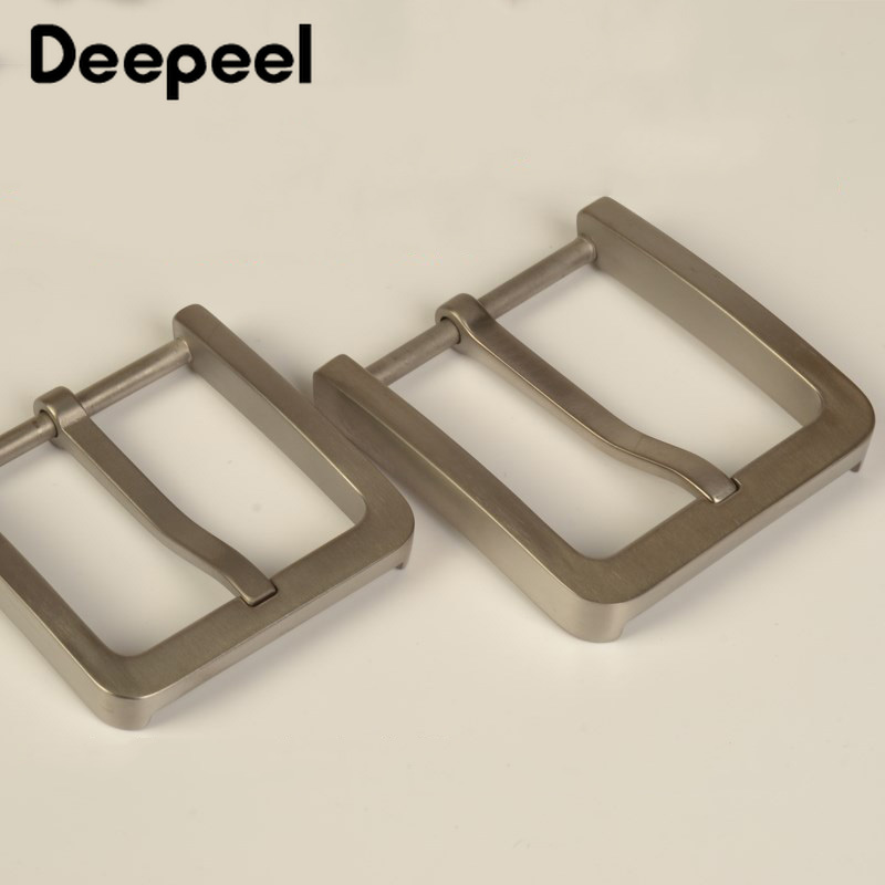 Deepeel Solid Pure Titanium Pin Belt Buckles Harmless To Skin For Men Jeans Clothing Accessories Leather Craft Width 37/39mm