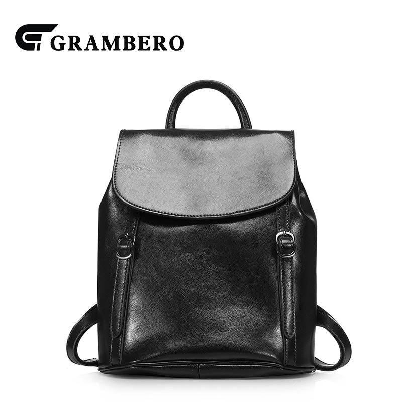 Creative Soft Oil Wax Leather Cover Solid Color Backpack for Birthday Gift Second Layer Cowhide Women Shopping Bags Fashion Bag hot sale women s backpack the oil wax of cowhide leather backpack women casual gentlewoman small bags genuine leather school bag