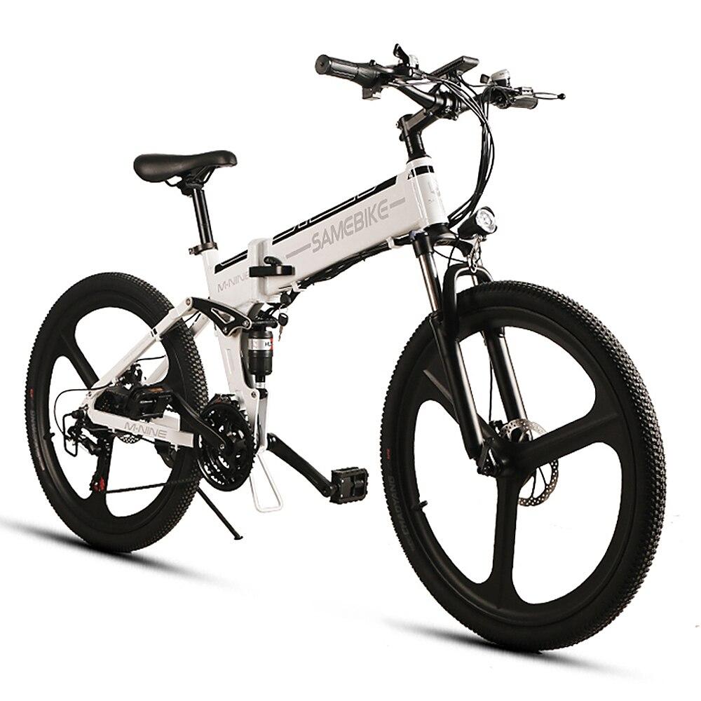 Lixada 26 Inch Folding Electric Bike Power Assist Electric Bicycle E Bike Conjoined Rim Scooter 48V 350W Motor