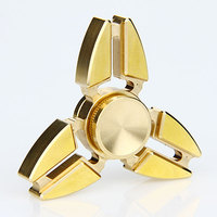 Do Dower Tri Fidget Spinner Brass Material Triangle EDC Hand Spinner Metal Stress Spinner Hand With