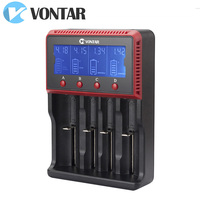 VONTAR VT4 LCD Battery Charger Rechargeable Battery For LI Ion NiMH Ni CD LiFePO4 AA