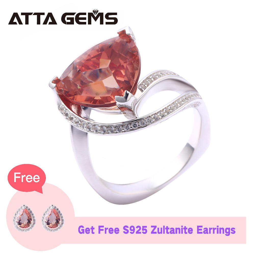 Zultanite Sterling Silver Rings For Women Engagement 9 2 Carats Created Diaspore Special Gemstone Wedding Anniversary
